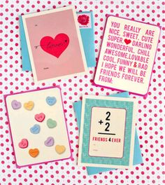 Class valentines at One Charming Party