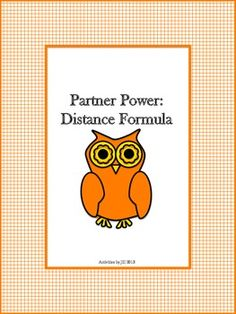 Older students need fun activities, too!  This partner activity consists of sixteen distance formula problems (eight for each partner). Students will be required to find missing coordinates using the distance formula. Some distances are represented in radical form.  $