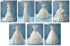 Disney Princess inspired wedding dresses!
