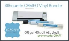 Silhouette CAMEO Giveaway + new Vinyl Promotion! #giveaway