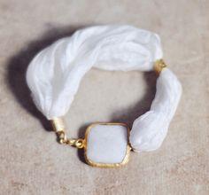 #white jade and #silk #bracelet