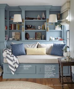 Daybed and shelves