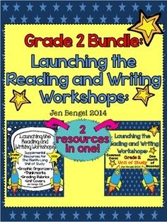 This bundle includes everything you need to teach and assess for a month long unit of study on launching the reading and writing workshops!  There are 40 CCSS detailed lessons, chart examples, printable graphic organizers and thinkmarks for every reading lessons, writing rubrics, and much more!