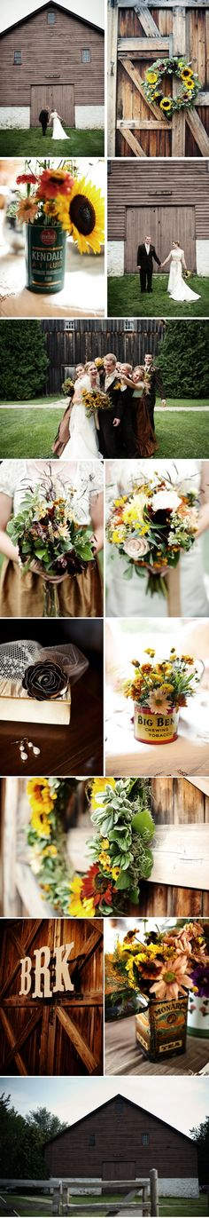 love, love, love this rustic wedding!