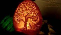 Beautiful Eggshell Art Carvings