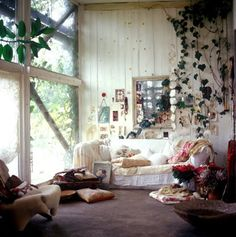 plant, interior, living rooms, shabby chic, vine, hous, place, light, dream rooms