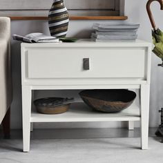 night tables from west elm for master bedroom