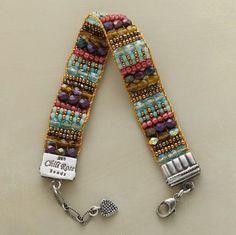 bead bracelet, fire polish, polish bracelet, handmade bracelets, sterling silver, seed beads, jewelri, bead loom, handmade jewelry