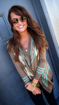 love the cardigan ray bans, hair colors, fashion ideas, cloth, street styles, fall sweaters, winter fashion, closet, ray ban sunglasses