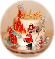 fire!!! - This was for a 3-yr old's birthday party....it was a lot of fun to make, except it took me all night!!!