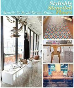 Stylishly Stenciled Floors | Royal Design Studio
