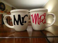 """Mr & Mrs. Coffee Mugs"""