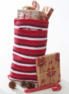 Add a handmade touch to your Christmas gifts this year with this Festive Peppermint Gift Bag. Your crochet skills will shine through this holiday season when you work up this crochet gift bag.
