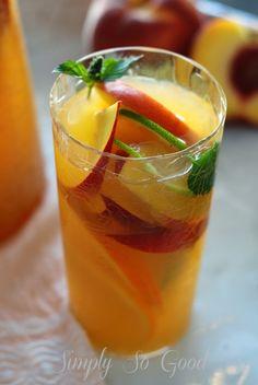 Fresh Peach Sangria Mocktail My Way.