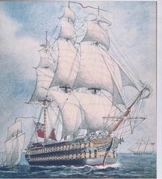 The HMS St. Lawrence. The ship was a wooden warship used in the war of 1812. The first Royal navy ship that participated in a line of battle formation. She was also the only Royal Navy ship to sail entirely in fresh water