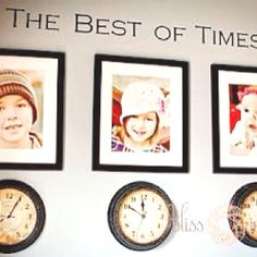 Clocks stopped at the time your kids were born, precious.