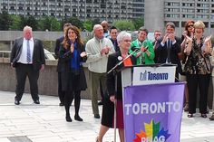 """""""Standing proud .... Hmmmm"""" - Toronto's Mayor at an LGBT event recently! He is such an embarrassment for the city ..."""