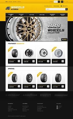 black and yellow eCommerce web design