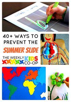 Over 40 Fun Activities to Prevent the Summer Slide in Kids
