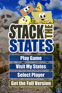 My 7 Year old Learned all states and capitals with locations over the winter break! LOVE Stack the States Geography App- Learn 50 US states trivia via shape-matching and a stacking game.