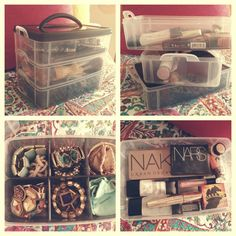 The perfect Target storage bin, used for makeup and jewelry, especially perfect for constant travelers!