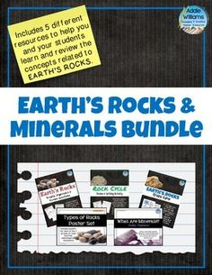 Earth's Rocks & Minerals Bundle - Bundle of 5 resources to review and learn more about earth's rocks and minerals. ($)