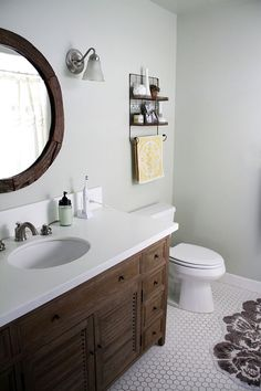chic meets rustic bathroom
