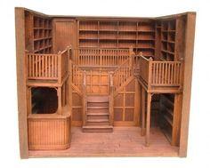 Prototype Oak Library 1:24 scale | Stewart Dollhouse Creations