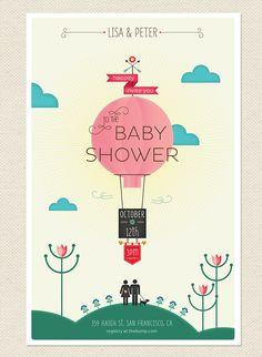 Baby shower invitation by mythunderstorm #babyshower #invitation mythunderstorm.com/blog