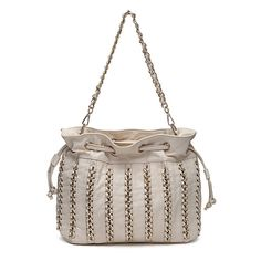 Tan Elegance Chain Handbag