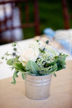 Photography by orchardcovephotog..., Tent by sperrytents.com table settings, connecticut, buckets, table flowers, tent, orchard, floral arrangements, centerpieces, mason jars