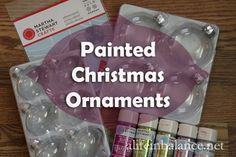 How to Paint Glass Ornaments