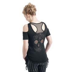 Lace Skull - Camiseta Mujer por Rock Rebel by EMP $29.99 € € en EMP...  la mayor tienda online de Europa de Merchandising oficial de bandas de Metal, Hard Rock , Heavy, Ropa Gótica , Punk y todo lo que te hace falta para vivir el Rockstyle en toda su dimensión.  EMP Rock Mailorder España