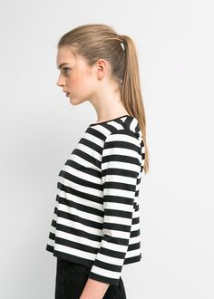 MINIMAL + CLASSIC: clean stripes and ponytail