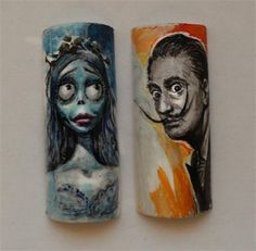 Day 242: Famous Faces Nail Art - - NAILS Magazine