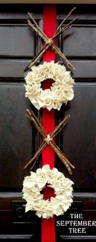Valentines Day Decor - burlap wreath - XOXO - hugs and kisses - xo wreath - red pink - Valentines wreath. $78.00, via Etsy.