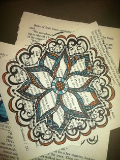 Coloring with the Big Pitt pens, inspired by Joanne Fink, Joanne Sharpe, and Alisa Burke.. Doodles = Sanity | KitsKorner.Com books, art journal, text, colors, backgrounds, book pages, coloring, doodl, art techniqu