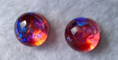 Hunger Games Tiny Little Fused Dichroic Glass Post by Mtbaldyglassworks on Etsy