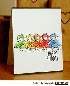 """Happy Birdday"" by Lucy Abrams #HeroArts"