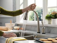Touch activated faucet