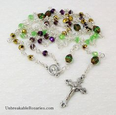 Pope Benedict with Pope John Paul II Rosary Beads by unbreakablerosaries.com