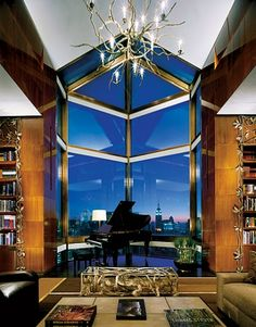 Ty Warner's penthouse, NYC Four Seasons  (via Architectural Digest)
