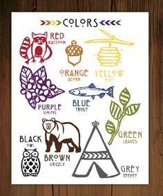 Color Chart Poster Print 11x14 by FrenchPressMornings on Etsy, $25.00