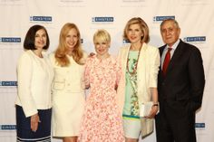 """Dean Allen M. Spiegel, MD, Albert Einstein College of Medicine, with 2014 Spirit of Achievement honorees. From left, Judy Aschner, MD, Einstein faculty member and renowned expert in pediatric Medicine; Alexandra Wilkis Wilson, co-founder of Gilt, an internet shopping destination; Juile Macklowe, entrepreneur and founder of the vbeaute, the upscale skincare line; Christine Baranski acclaimed actress and star of """"The Good Wife."""""""