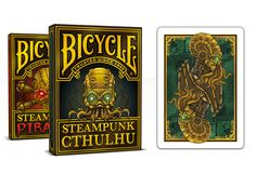 Steampunk and Pirates come together like never before. A companion deck to the wildly popular Steampunk Cthulhu deck. Steapunk Cthulhu deck NOT available as add on, see pledge levels $25, $30