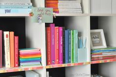 Honey We're Home: Washi Tape Bookshelf