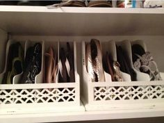 Use letter organizers to store flip flops or flats. | Community Post: 41 Creative DIY Hacks To Improve Your Home