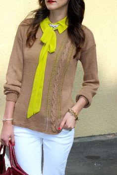 bright neons paired with neutrals...