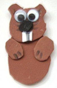 februari craft, scout idea, educ idea, swap craft, guid craft, fingers, care idea, groundhog day, finger puppets