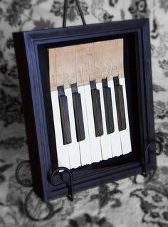 piano keys in shadow box